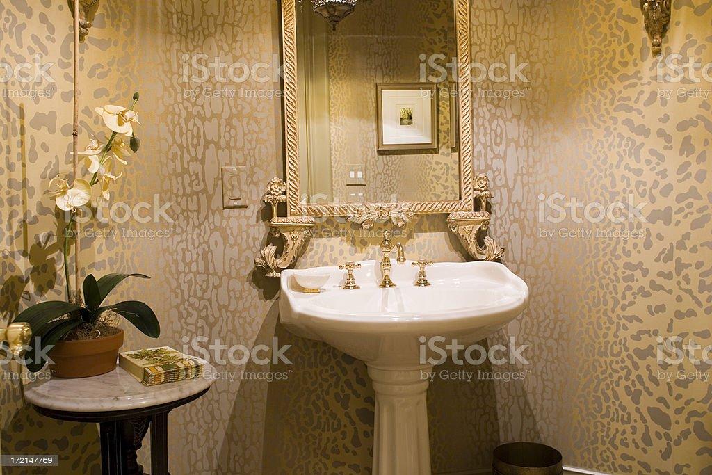 Luxurious Powder Room stock photo