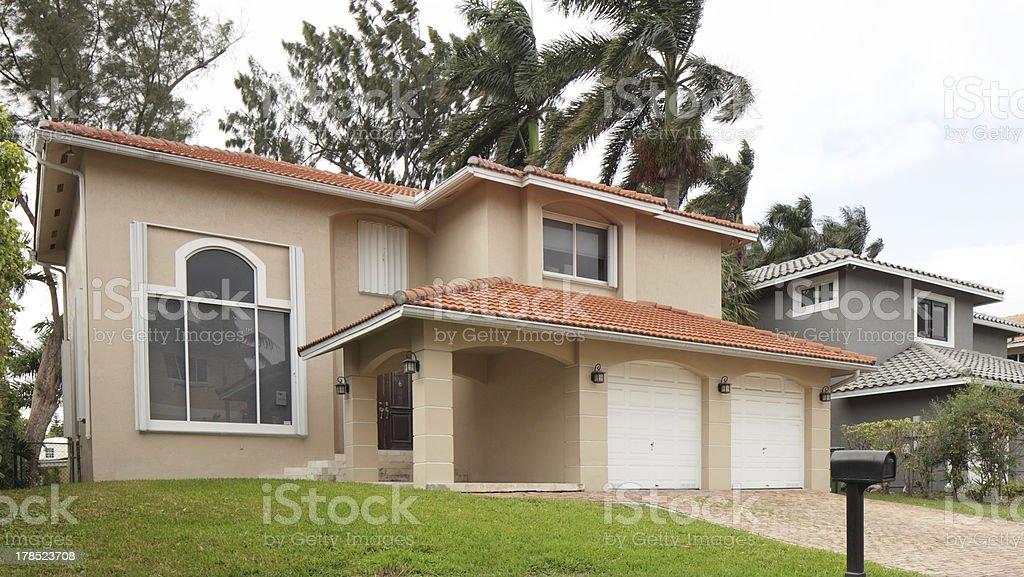 Luxurious single-family home royalty-free stock photo