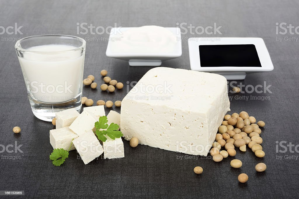 Luxurious soy products background. royalty-free stock photo