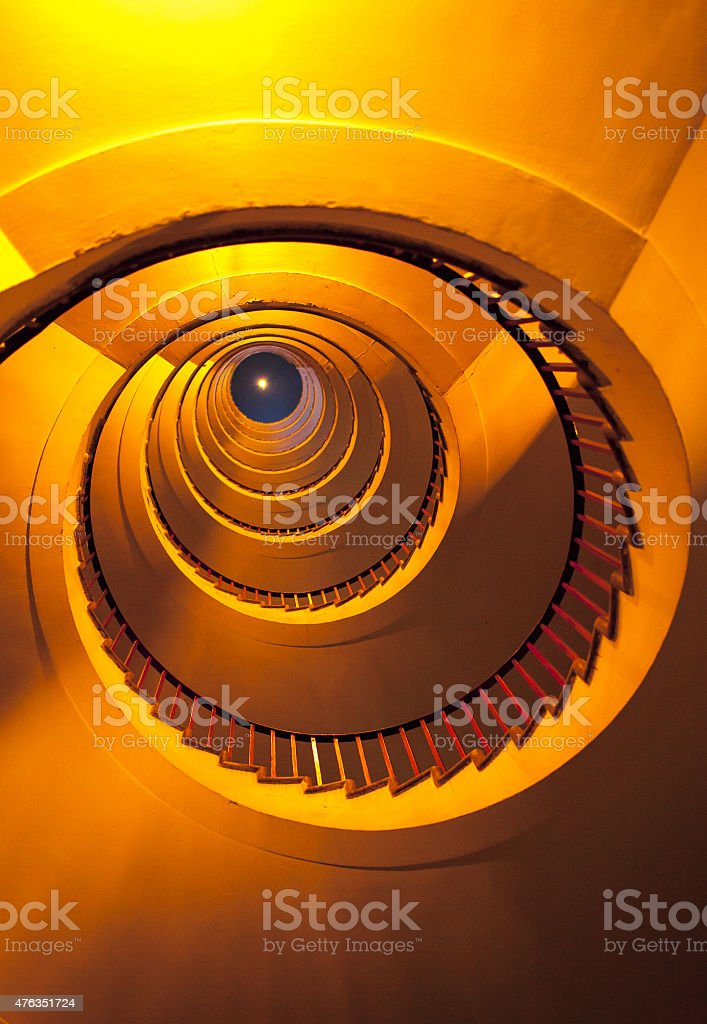Luxurious Spiral Staircase stock photo