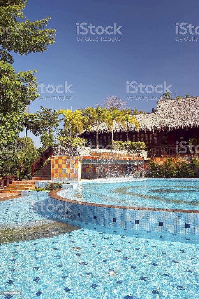Luxurious Swimming Pool royalty-free stock photo