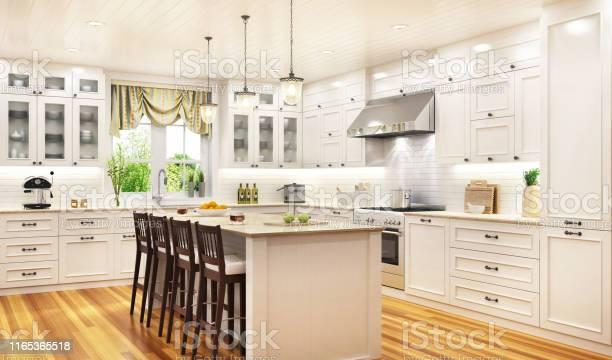Luxurious white kitchen in a large beautiful house picture id1165365518?b=1&k=6&m=1165365518&s=612x612&h=k7oczoxues4aj92quaflw22jafsj7shp6u0kknuyces=
