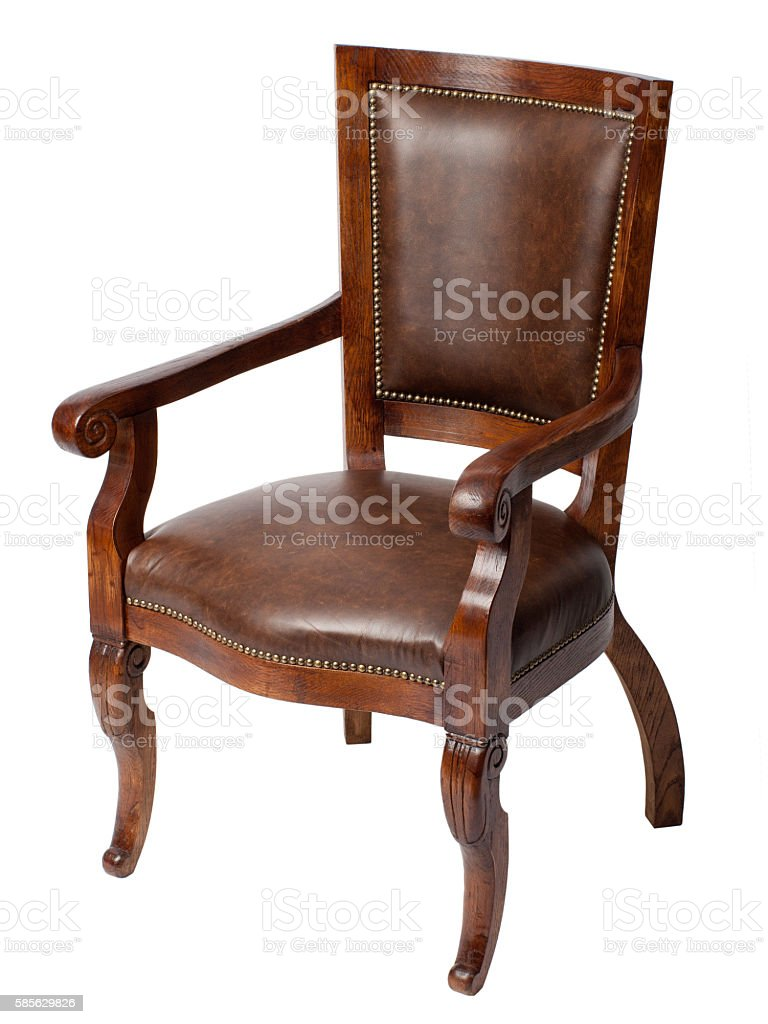Luxurious wooden chair stock photo