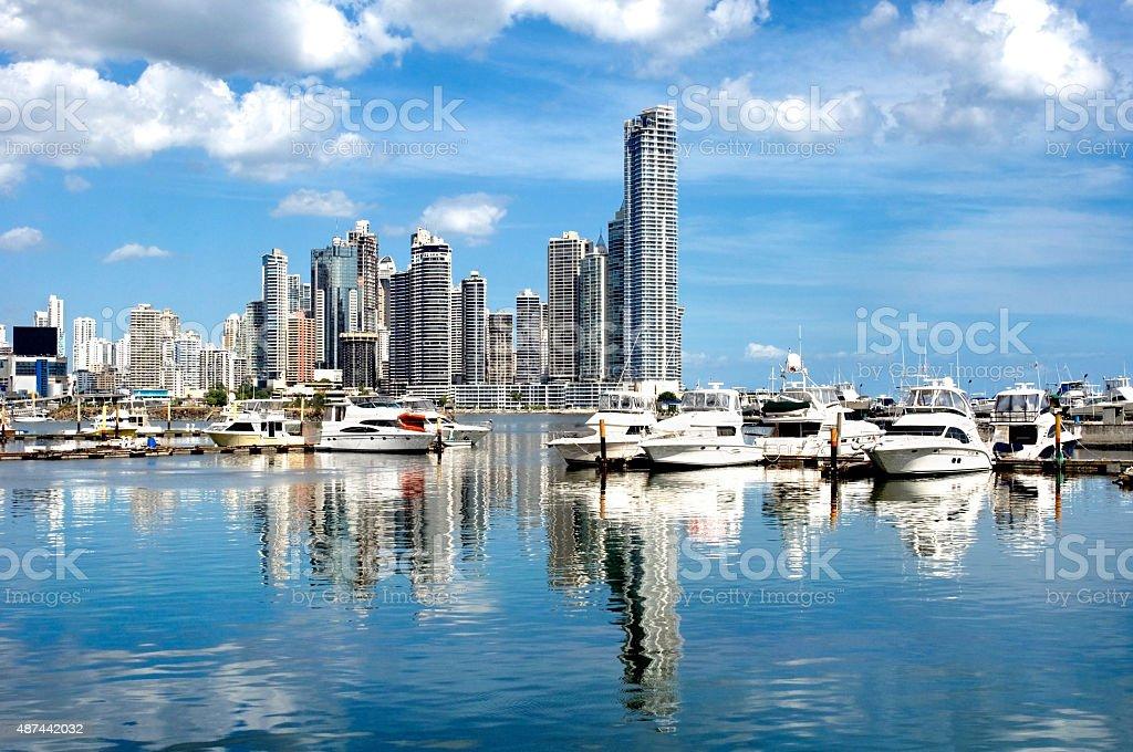 Luxurious yachts stock photo
