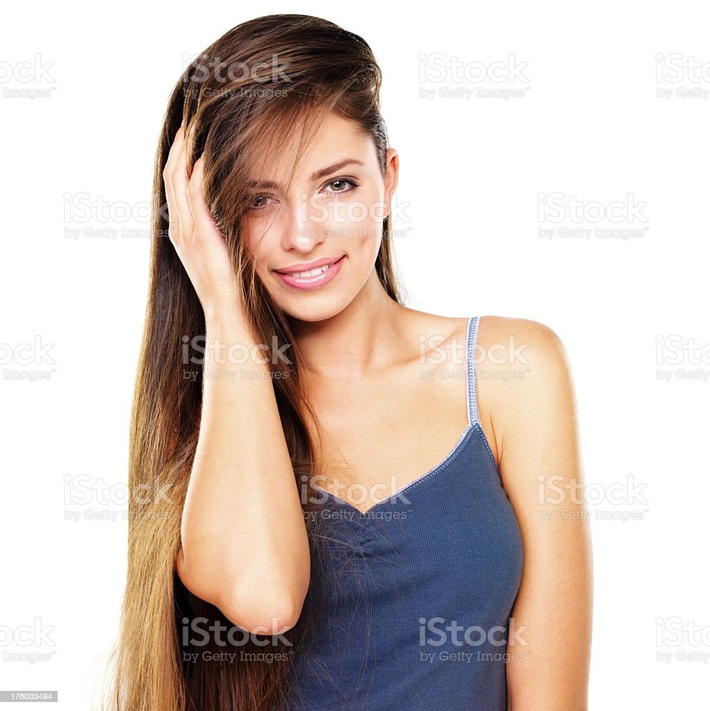Luxuriously soft hair without the fuss - Hair Care stock photo