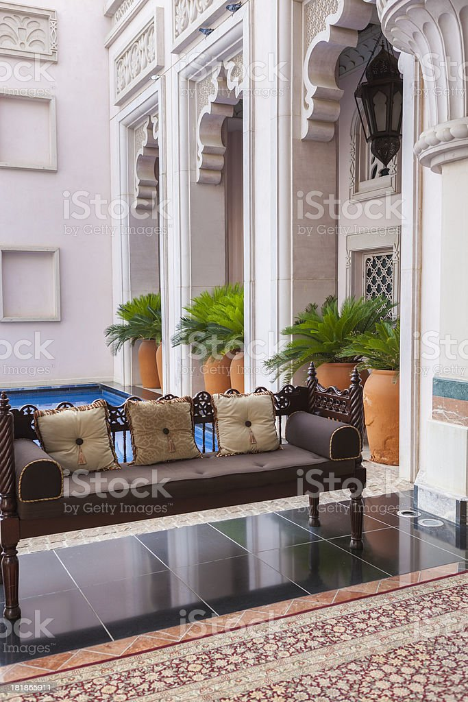 Luxury 5 star hotel resort in traditional middle eastern style royalty-free stock photo