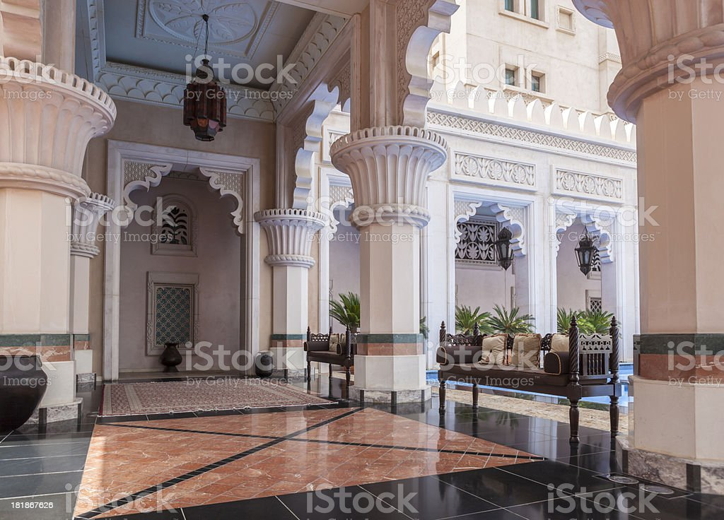 Luxury 5 star hotel resort in traditional middle eastern style stock photo
