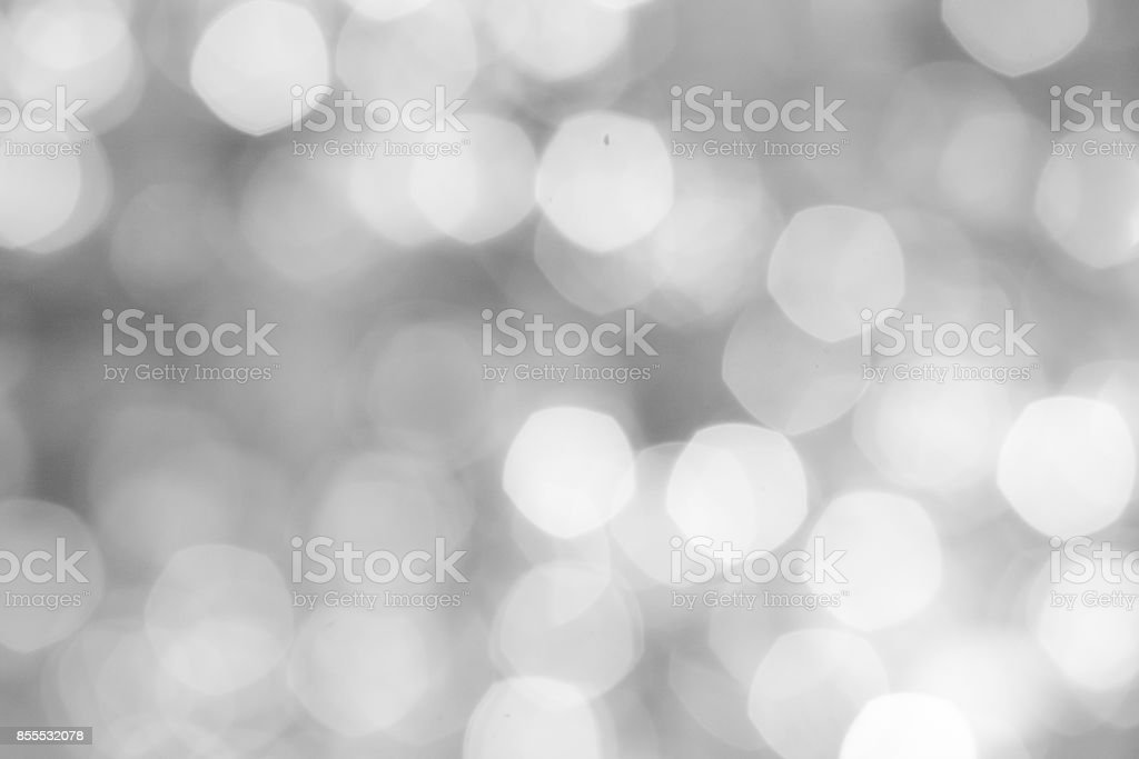 Luxury Abstract Shining Party Background with Sparkling  Lights and white bokeh. Christmas Design. Colorful circles of bright  defocussed background'n stock photo
