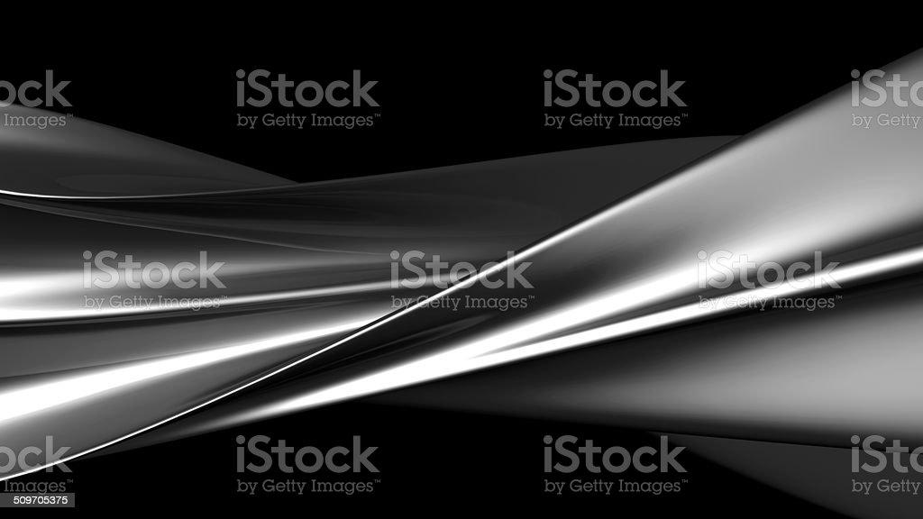 Luxury abstract silver metallic twisted art stock photo