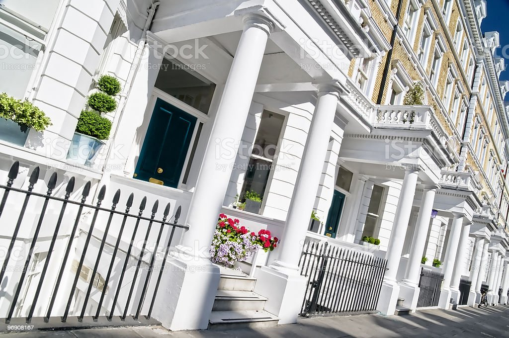 Luxury Apartment Building in London stock photo