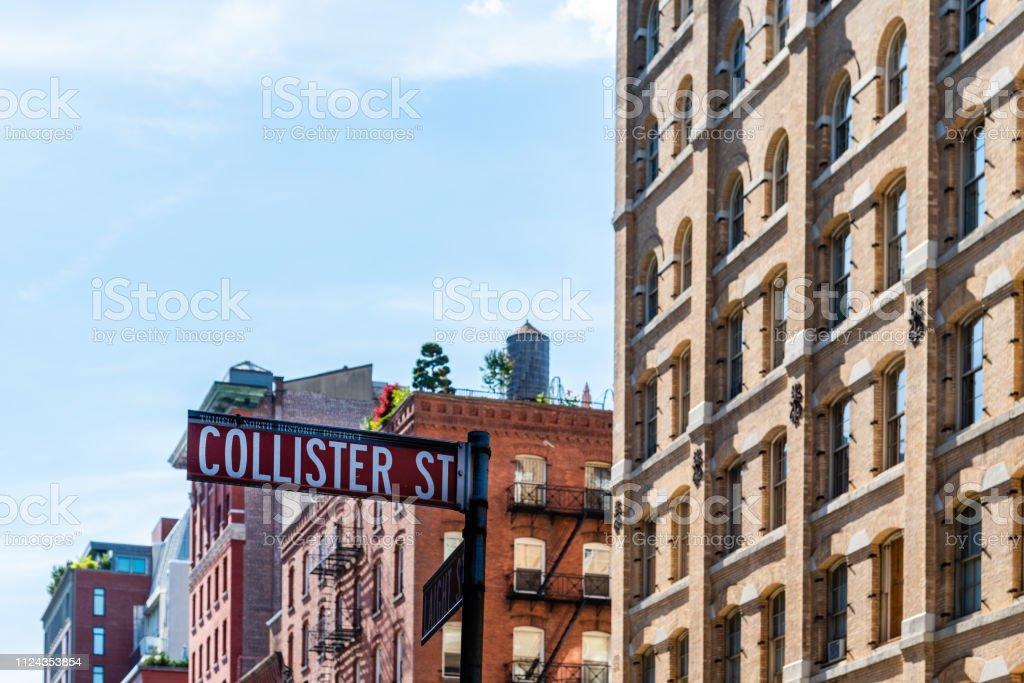 Luxury Apartment Buildings In Tribeca In New York Stock
