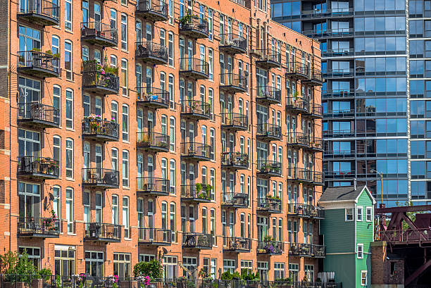 Luxury Apartment Buildings stock photo