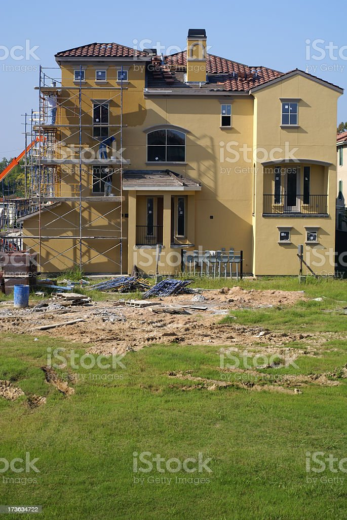 Luxury apartment construction site royalty-free stock photo