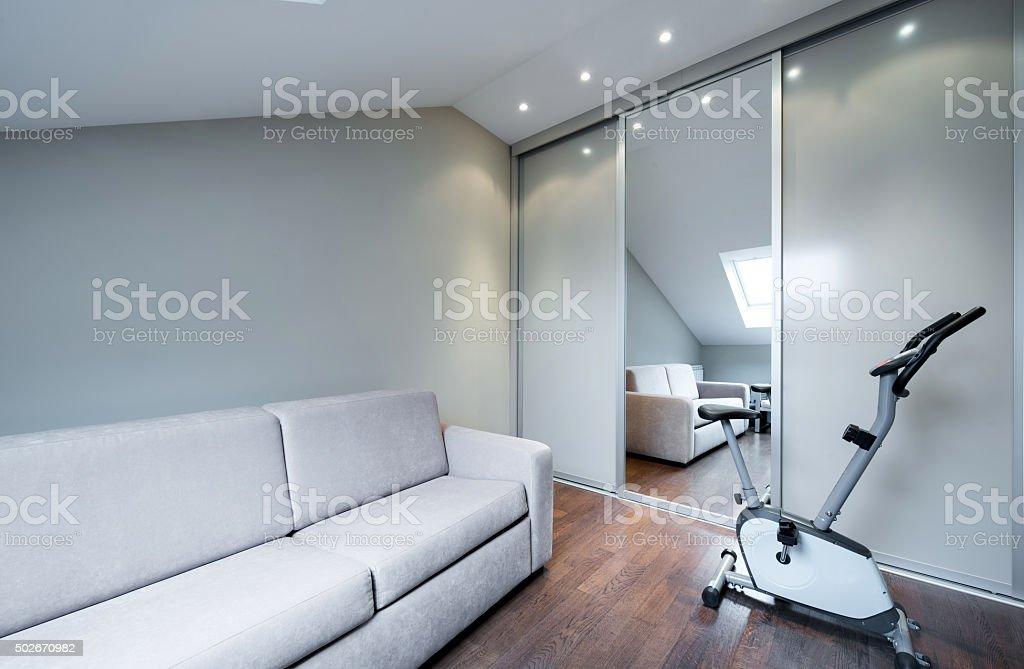 Luxury apartment interior stock photo
