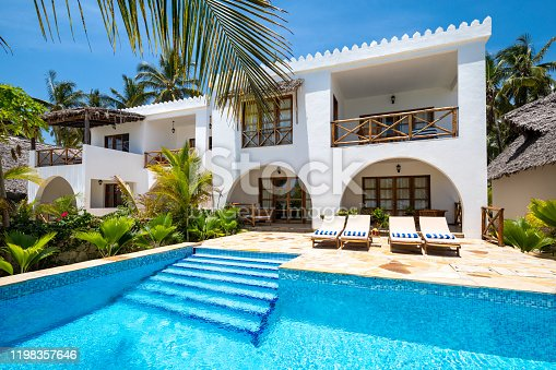Luxury villa with swimming pool in Zanzibar, Tanzania. Property released.