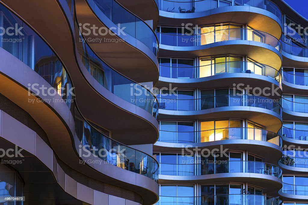 Luxury Apartments in London stock photo