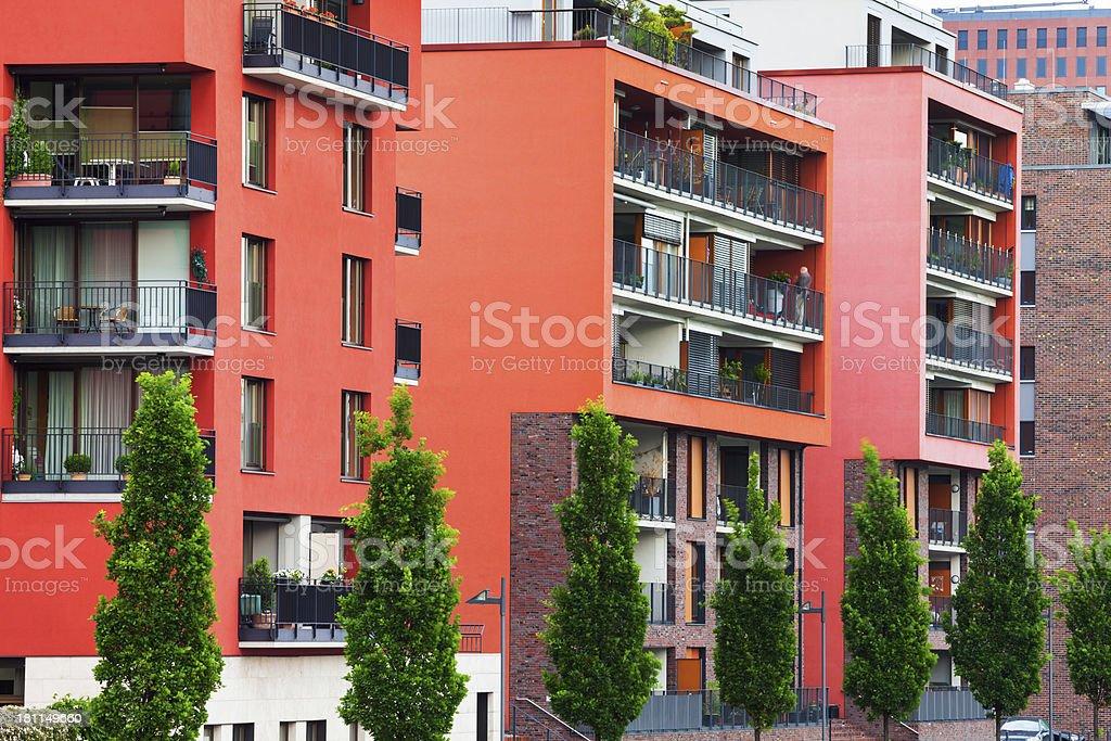 Luxury Apartments in Westhafen Harbor, Frankfurt, Germany royalty-free stock photo