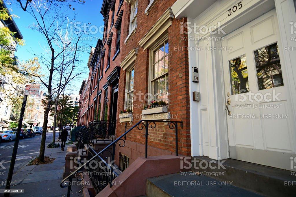 Fotograf a de apartamentos de lujo o casas en west village manhattan nueva york y m s banco de - Casas de lujo en nueva york ...