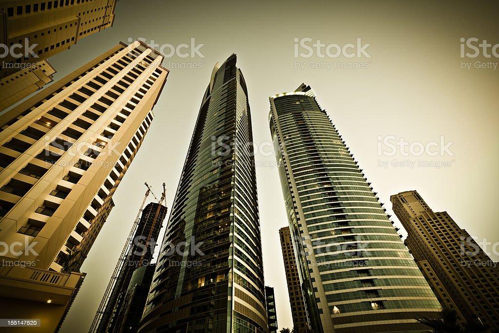 luxury apartments skyline dubai royalty-free stock photo