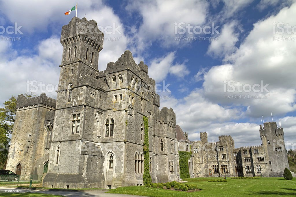 Luxury Ashford castle stock photo