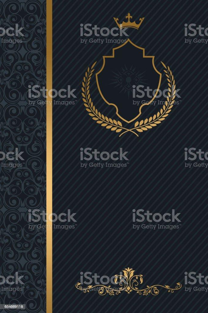 Luxury background with decorative elements. stock photo
