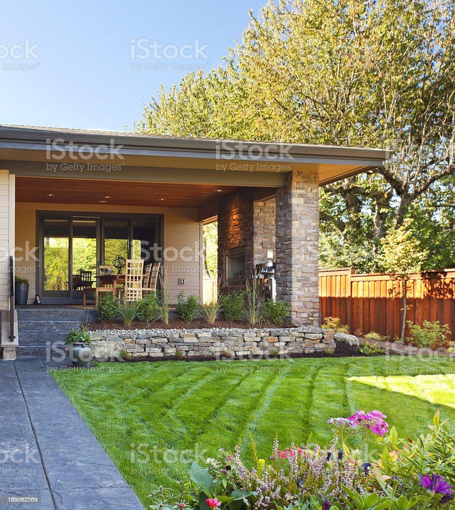 Luxury Backyard royalty-free stock photo