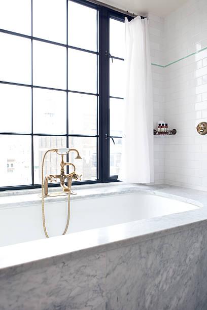 luxus-bad - badezimmer new york style stock-fotos und bilder