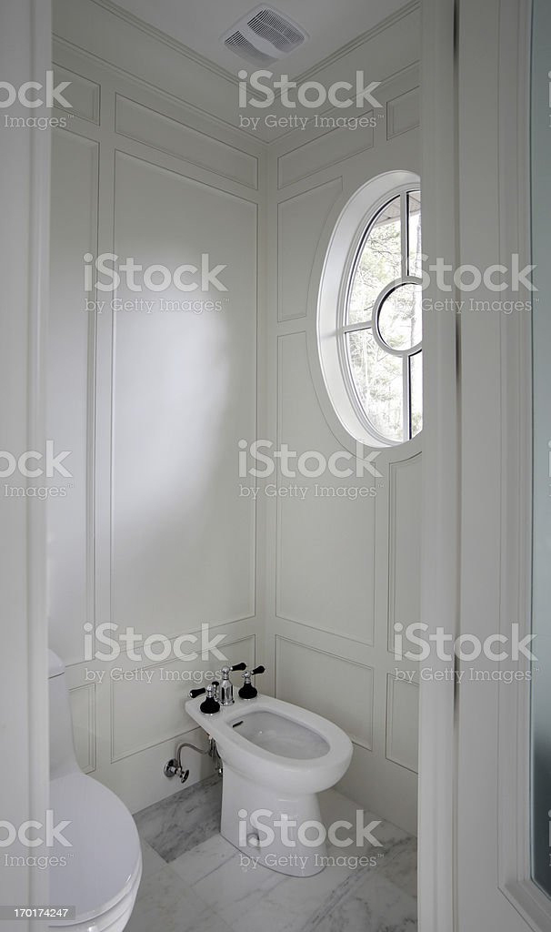 Luxury Bathroom bidet stock photo