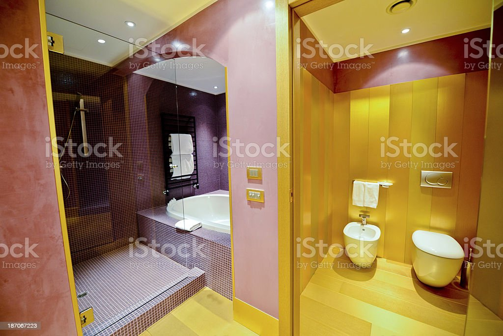 Luxury Bathroom in a Hotel Suite royalty-free stock photo
