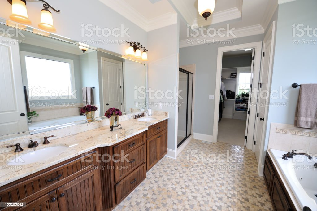 Luxury Bathroom in Home Interior royalty-free stock photo