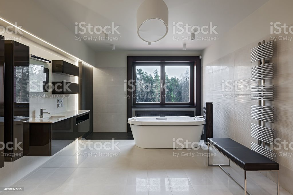Luxury bathroom interior stock photo