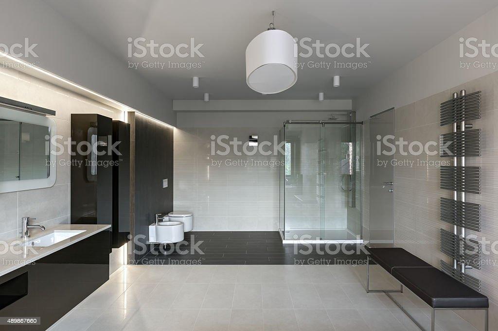 Luxus Badezimmer Interieur - Lizenzfrei Badezimmer Stock-Foto
