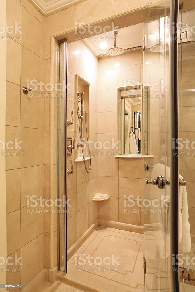 Luxury Bathroom Shower royalty-free stock photo