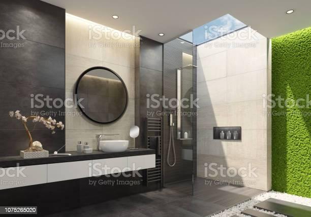 Luxury bathroom with innovative green moss wall and a skylight picture id1075265020?b=1&k=6&m=1075265020&s=612x612&h=id7iuekmhjpkzgymor85lcpa36amlgyz4b7nldnmhpc=