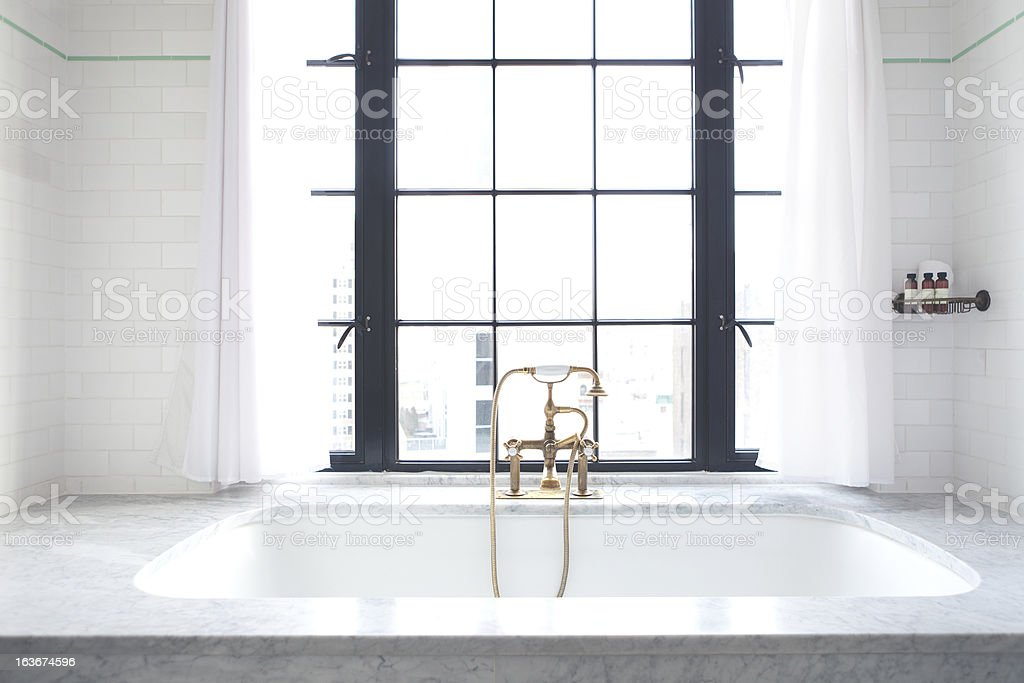 Luxury Bathtub at Bowery Hotel NYC stock photo
