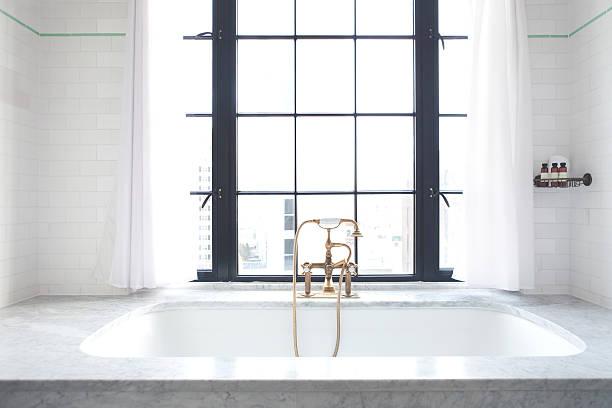 Luxury Bathtub at Bowery Hotel NYC stock photo