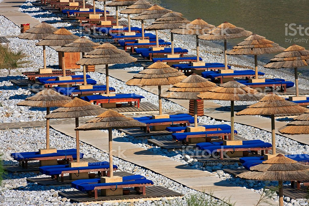 Luxury beach, Crete royalty-free stock photo
