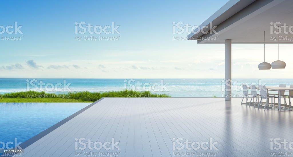 Fotografía de Casa De Playa De Lujo Con Piscina De Vista Mar Y ...