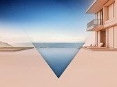 3d rendering of residential building.