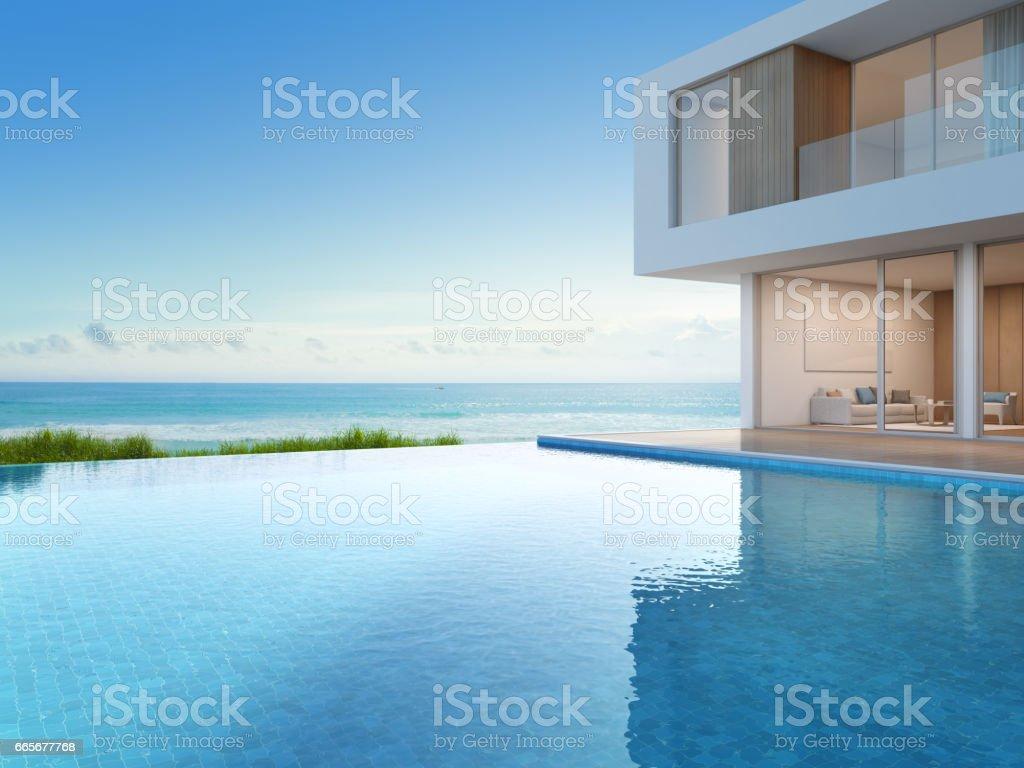 Luxusstrandhaus Mit Meer Blick Swimming Pool In Modernem ...