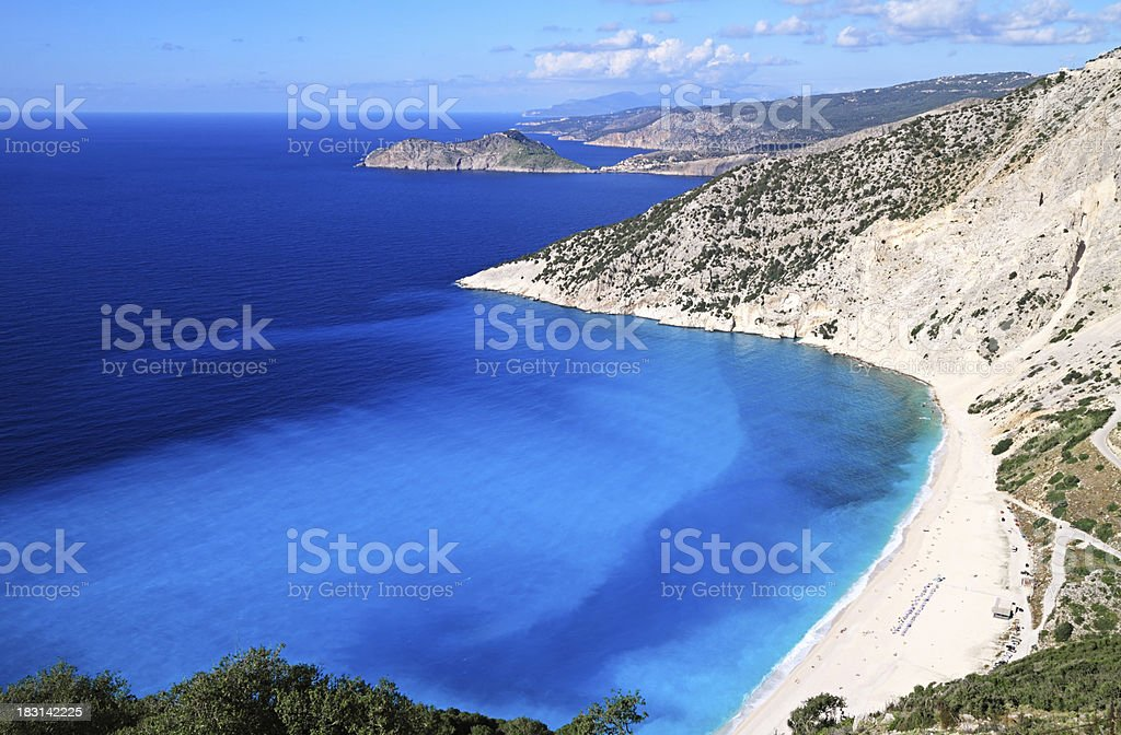 Luxury Beach, Kefalonia island, Greece stock photo