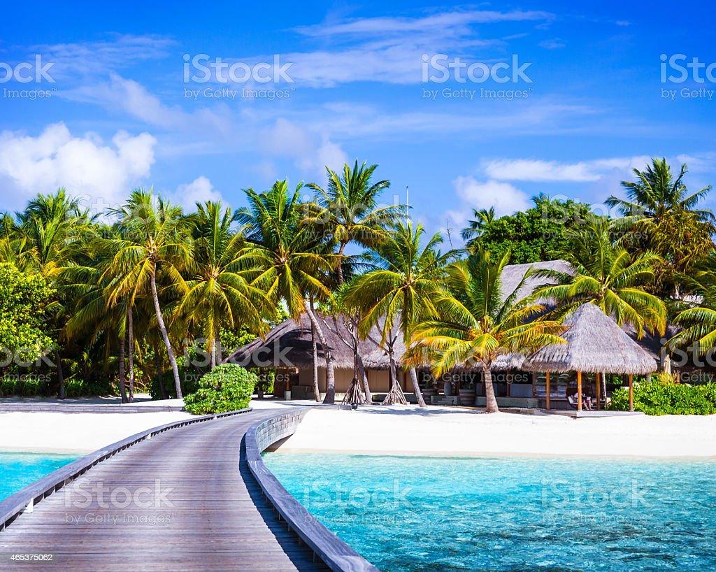 Luxury beach resort royalty-free stock photo