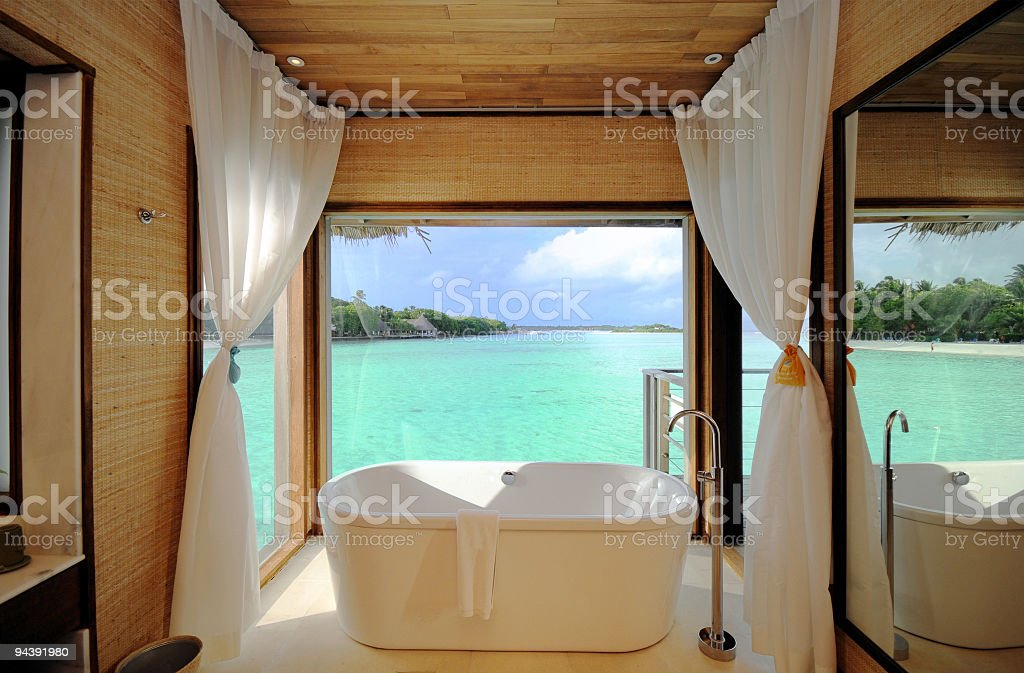 Luxury Beach Room stock photo
