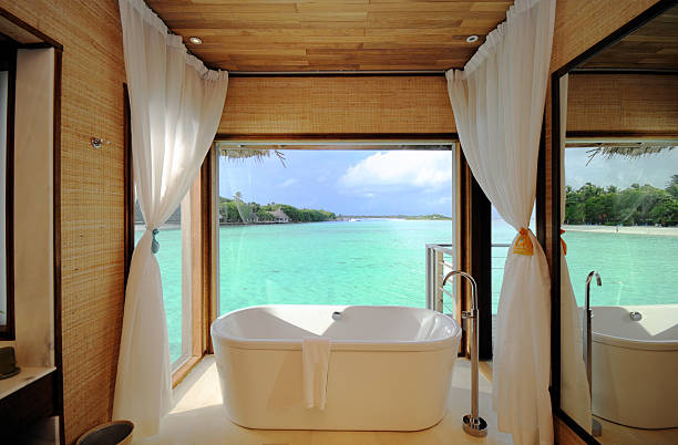 Luxury Beach Room  beach hut stock pictures, royalty-free photos & images