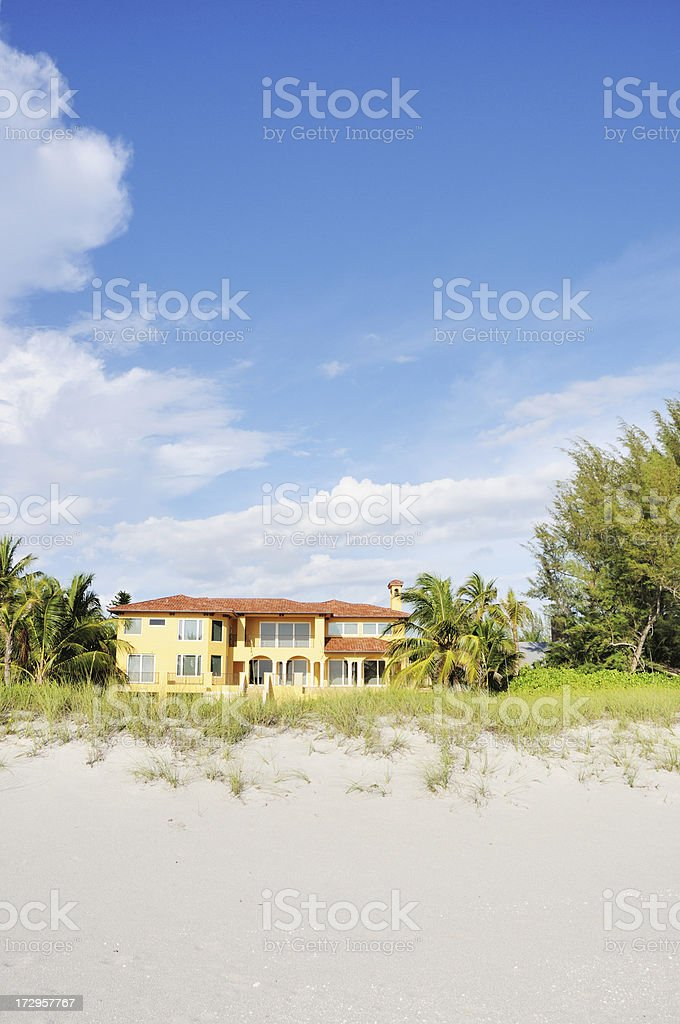 Luxury Beachfront Home on Captiva Island Florida stock photo