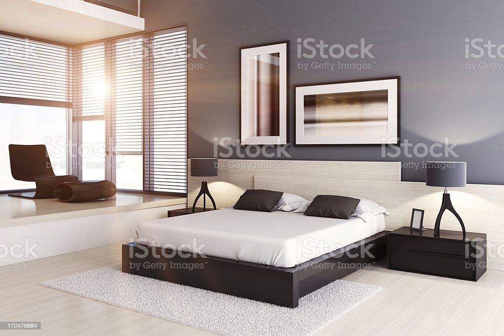 Luxury Bedroom Summer royalty-free stock photo