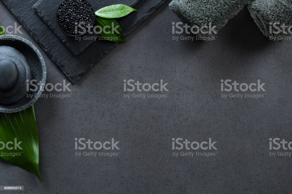 Luxury black spa stock photo