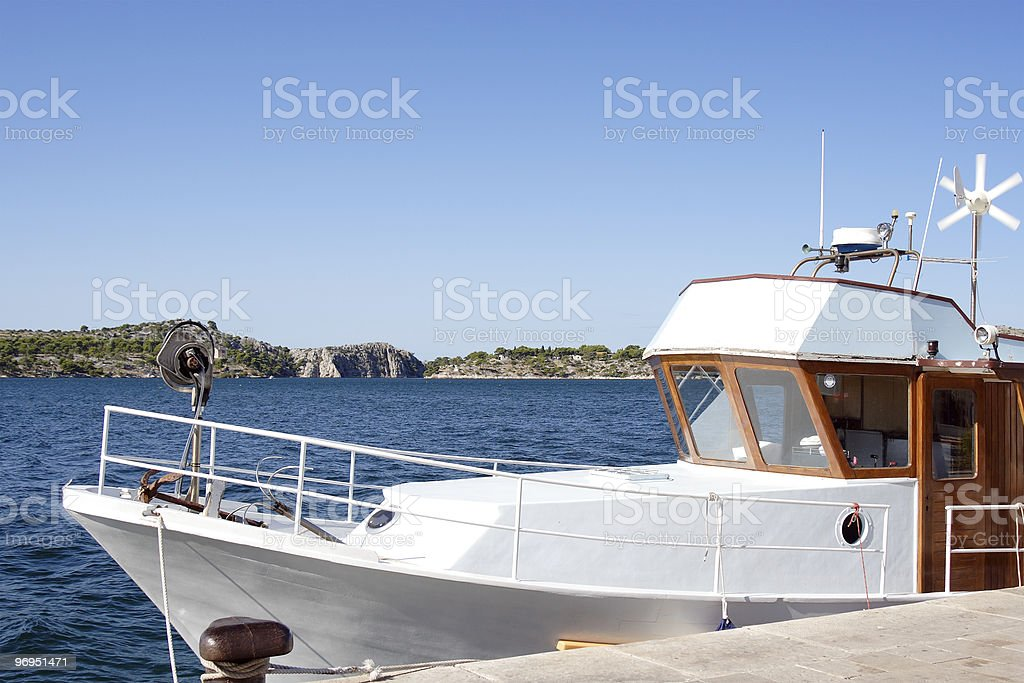 Luxury Boat in Port royalty-free stock photo