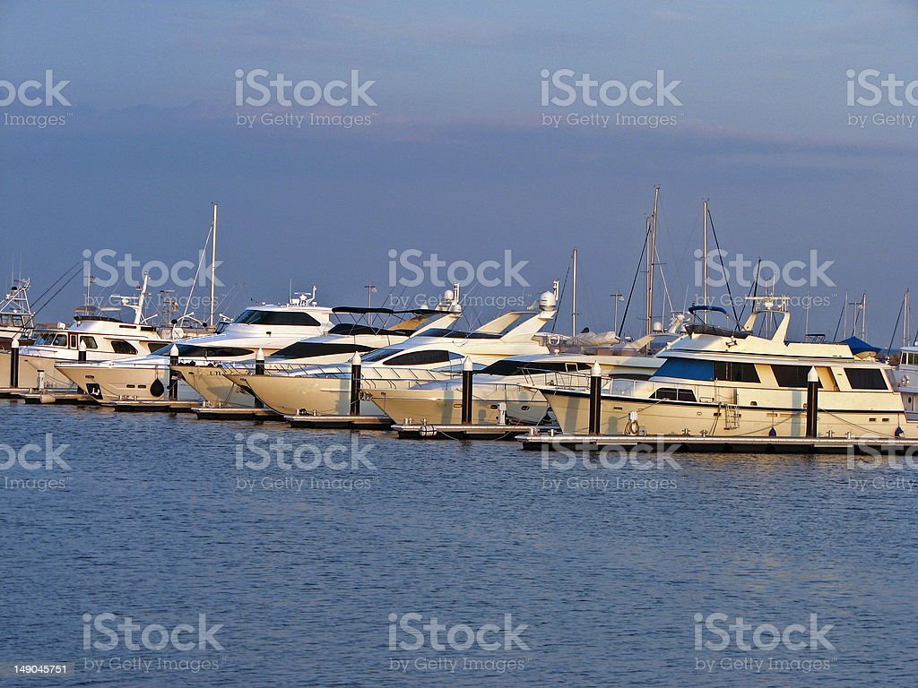 Luxury Boat stock photo