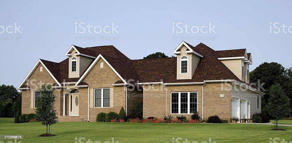 Luxury Brick Home royalty-free stock photo